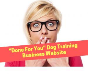 Dog Training Business Website Design